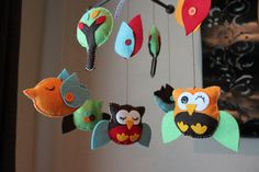 Whimsical felt mobile
