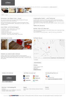 Schärer Schreinerei GmbH, Hirzel, Horgen, Küchenbau, Möbel, Türen