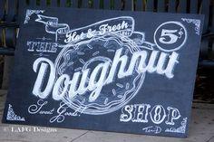L.A. FARM GIRL Wedding Chalkboard Sign