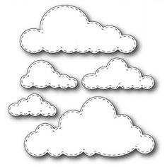 small cloud pattern use the printable outline for crafts creating