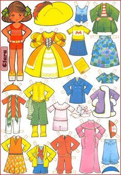 Paper dolls Maria Pascual / Paper dolls by Maria Pascual / Paper dolls / Beybiki. Clothes for dolls Paper Dolls Book, Vintage Paper Dolls, Paper Toys, Paper Crafts, Holly Hobbie, Paper Dolls Printable, Pulp Fiction, Doll Face, Doll Accessories