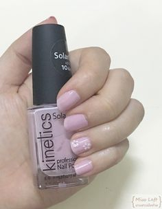 #nail #nailpolish #flower #pink #kinetics #solargel