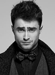 The coat. The bowtie. The stare. Daniel Radcliffe is no longer a boy wizard.