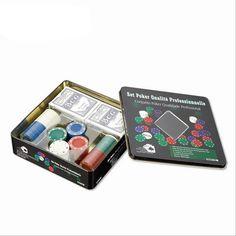 100PCS Poker Chip Set Circuito Integrado Poker Chips 14g Casino Chips Poker Card For Entertainment With Box