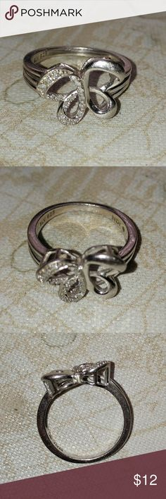 💕 Sale 💕 Butterfly Ring .925 silver butterfly design ring. I believe it's a size 6. I wore it on my pinkie. Jewelry Rings