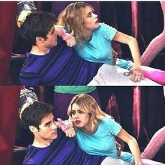 #Leonetta His face... XD