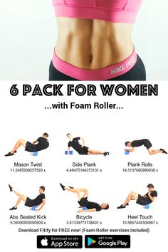 Six Pack Abs Diet аnd Workout Roller Workout, Ab Roller, Six Pack Abs Diet, Foam Roller Exercises, Belly Fat Workout, Do Exercise, Keep Fit, Tabata, Workout Challenge