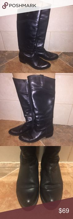 Corso Como Leather Riding Boots Size 6 Corso Como Genuine Leather Upper Tall Black Riding Boots, Size 6. Classic and Timeless Riding Boot Style. Minimal wear with minor creases and scuffs. Overall great condition! Corso Como Shoes