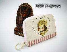 PDF wallet pattern Zipper wallet pattern Lady by XinHandmade
