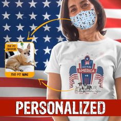 Pajama Shirt, Custom Tees, Pet Names, God Bless America, Personalized T Shirts, Dog Mom, Independence Day, Caricature, Mom And Dad