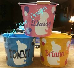 Personalized Easter buckets - we are getting lots of orders for these right now.  $20.00 each