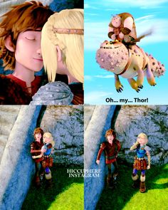 There are so many HICSTRID moments in race to dragons edge! You need to watch it if you love them or even just HTTYD in general Httyd Dragons, Dreamworks Dragons, Httyd 3, Cute Dragons, Disney And Dreamworks, Dragons Edge, How To Train Dragon, How To Train Your, Hicks Und Astrid