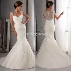 Vestido De Noiva Sereia Sexy Lace Mermaid Wedding Dress 2014 Gown Wedding Bride Dress Casamento Robe De Mariage