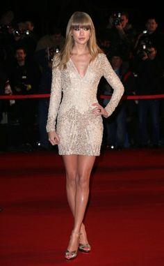 Taylor Swift's Short, Beaded Elie Saab Dress