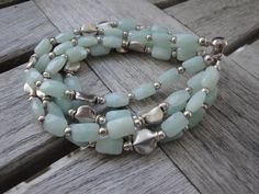 Gemstone Bracelet - FREE SHIPPING - 5 Strand Amazonite Bracelet
