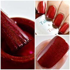 "Todays color is ""Things That Go Boom"". It is a Red nail polish with subtle glowing holographic effect. Dries to a semi-glossy finish. Opaque in one coat. Glossy topcoat recommended. It is available at my etsy shop linked below for $9. Thank you to the wonderful Ashley at fireangel120 for the beautiful photos!  https://www.etsy.com/listing/477719680/things-that-go-boom?ref=shop_home_active_7"