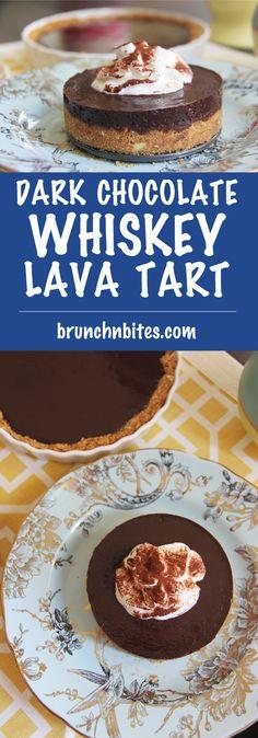Dark Chocolate Whiskey Lava Tart | www.brunchnbites.com