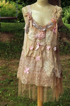 420be97bccb2 Nostalgia top in blush and cream-- shabby chic whimsy bohemian top