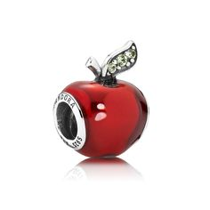 Disney, Snow White's Apple Charm - PANDORA A glossy-red surface and glittery green details lend a lifelike quality to the decorative apple design. Deceptively innocent in its appearance, the iconic Poisoned Apple also serves as a lesson that you can overcome obstacles if you stay true to yourself and your friends. £25.98 28% OFF http://www.pandorasale2012.com/disney-snow-whites-apple-charm-pandora-791572en73.html