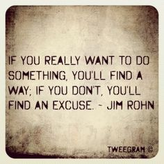What are you making excuses for?