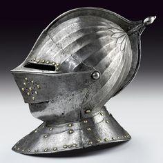 Asta autunnale armi antiche e armature elmetto da uomo  #asta #armi #armature   http://www.milleaste.it/2012/11/07/asta-autunnale-di-importanti-armi-antiche-ed-armature/#
