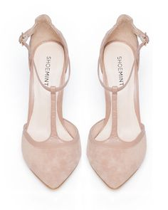 Gracie Nude Suede Pumps//