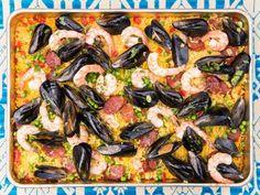 Grilled Sheet Pan Paella