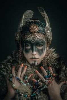 All Things HeathenViking and Heathen Related Clothing and accessories Makeup Inspiration, Character Inspiration, Character Design, Dark Fantasy, Fantasy Art, Warrior Makeup, Tribal Makeup, Norse Mythology, Larp