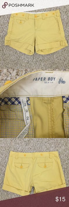 Paper Boy Bermuda shorts. Paper Boy Bermuda shorts. Pockets on front and back. Size 2. Perfect for Summer! If you would like modeled photos, just ask! Prices are firm. Paper Boy Shorts Bermudas