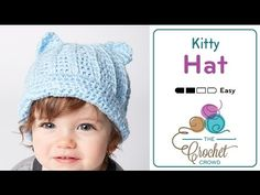 How to Crochet A Hat: Kitty Hat - YouTube