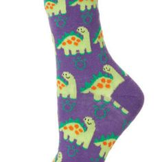 6fac53685f33 Purple Big Dinosaur Socks Sock Leggings