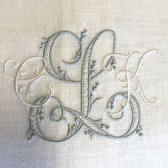 Gorgeous monograms from Bobbins Designs