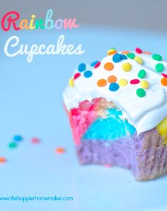 Easier than you think Rainbow Cupcakes!