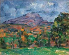 Paul Cézanne    La montagne Sainte-Victoire, 1888 -1890 - the color is fab!