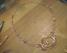 make handmade wire chain - from Make OOAK Handmade Chain Using Multiple Wire Gauges (and Morse Code)