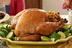 Honey-Lime Glazed Turkey with Stuffing Recipe - Kraft Recipes