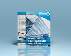 Die Firma Hens Dienstleistungen Gebäudereinigung präsentiert sich neuen Kunden in einer A4-Broschüre mir einem partiellen UV-Lack! Uv Lack, Chart, Cleaning