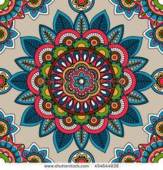 Indian mandala seamless pattern vector image on VectorStock Mandala Doodle, Mandala Art, Mandala Design, Mandala Canvas, Indian Mandala, Mandala Drawing, Mandala Painting, Mandala Pattern, Pattern Art