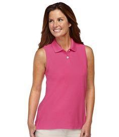 Premium Double L Polo, Sleeveless: Polos | Free Shipping at L.L.Bean