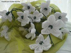 Facilite Sua Arte: Fuxico 14 - Pisca-Pisca com flores