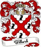 Billard Coat of Arms  Billard Family Crest   VIEW OUR FRENCH COAT OF ARMS / FRENCH FAMILY CREST PRODUCTS HERE