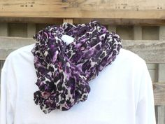Arm Knit Purple Panther Chiffon Scarf by WarmButterfly on Etsy