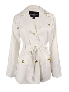 London Fog Women's Single Breasted Short Rain Coat, White, Small -- To view further for this item, visit the image link.