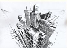 3 point perspective - birds eye view