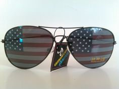 American Flag Mirror Aviator Sunglasses, New #Aviator