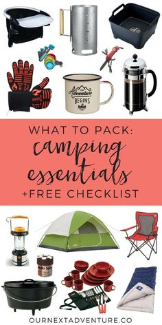 What essential gear do you need for a success family camping trip? Get a free camping essentials checklist now! #familytravel #camping // Plan Camping Trip | What to Pack | Camping Gear | Camping Essentials | Camping with Kids | Glamping Gear | What to Bu