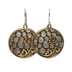 Champagne Collection #esbedesigns #Fall2014    Champagne Earrings #Brass And #Sterling #Silver Enamel Round #Earrings. ES364 #handcrafted #gift #jewelry #designer #esbedesigns