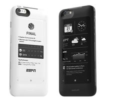 The popSLATE 2's E-Ink screen displays iPhone notifications and content with less power - http://backerjack.com/the-popslate-2s-e-ink-screen-displays-iphone-notifications-and-content-with-less-power/