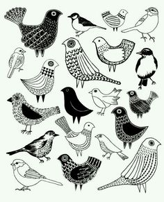 Bird doodle zentangle illustrations 20 ideas for 2019 Doodle Art, Bird Doodle, Tangle Doodle, Bird Drawings, Doodle Drawings, Drawing Birds, Flower Drawings, Bird Line Drawing, Animal Illustrations