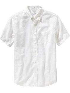 Mens Regular-Fit Linen-Blend Shirts